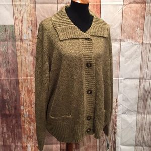 NWT 3X cozy cardigan sweater.     P286